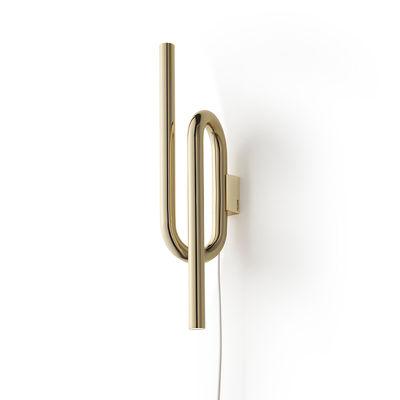 Applique Tobia LED / Métal - H 40 cm - Foscarini or/métal en métal