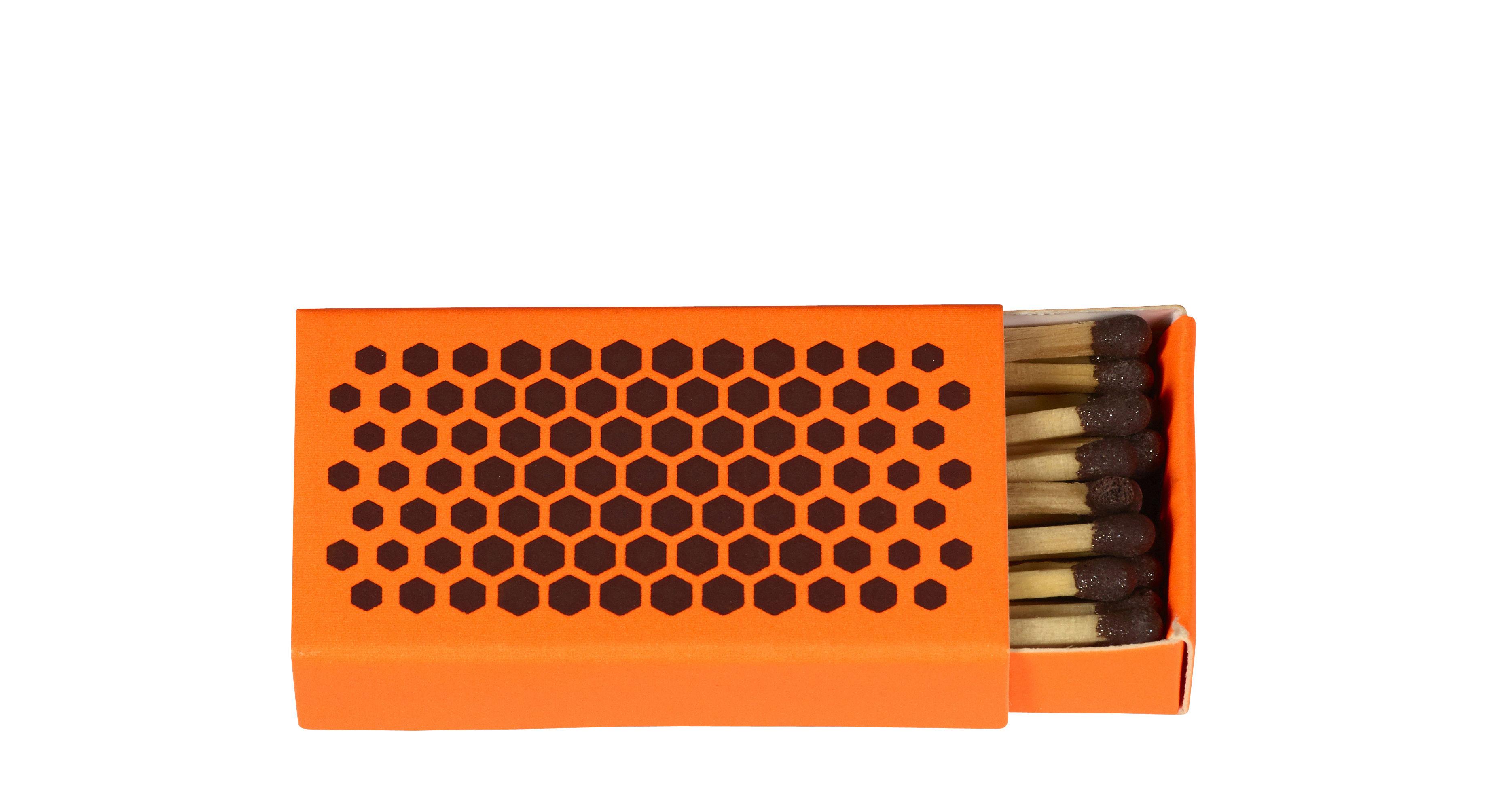 Ventes Flash - Grande Vente de Noël - Boîte d'allumettes Strike / 6 x 3 cm - Hay - Orange / 6 x 3 cm - Bois, Carton