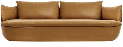 Canapé droit Bart L 235 cm Cuir Moooi cognac en cuir