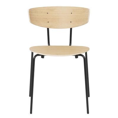 Chaise empilable Herman / Bois & métal - Ferm Living bois naturel en bois