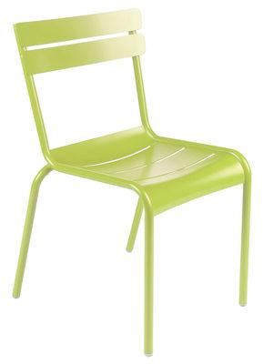 Life Style - Chaise enfant Luxembourg Kid / Empilable - Métal - Fermob - Verveine - Aluminium laqué
