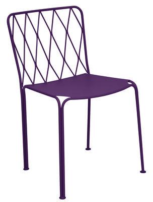 Mobilier - Chaises, fauteuils de salle à manger - Chaise Kintbury / Métal - Fermob - Aubergine - Acier peint