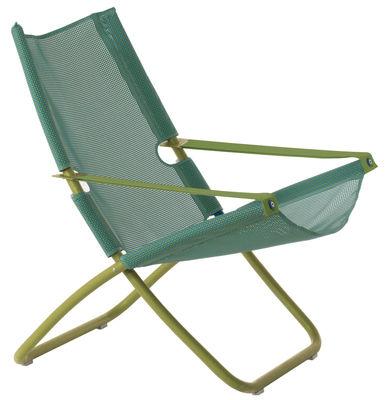 Chaise longue Snooze / Pliable - 2 positions - Emu vert en tissu
