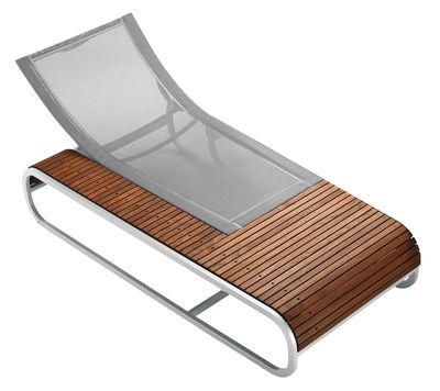 Chaise longue Tandem version teck - EGO Paris argent,teck en métal