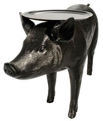 Möbel - Couchtische - Pig table Couchtisch - Moooi - Schwarz - Polyesterfaser