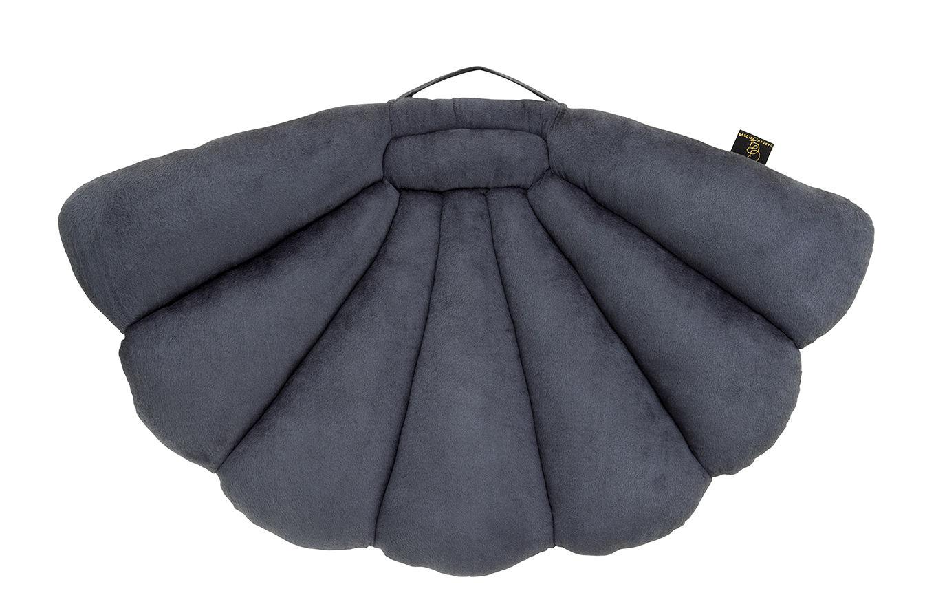Interni - Cuscini  - Cuscino Coquillage - / Piegevole - Velluto - 75 x 94 cm di Garden Glory - Grigio - Espanso, Velluto