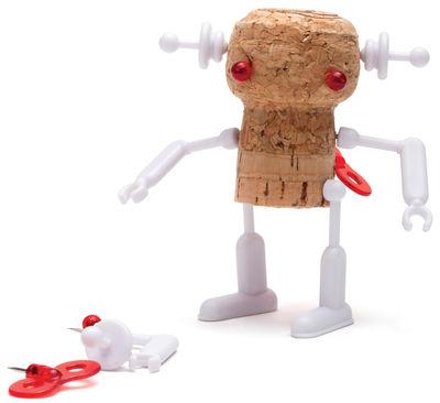 Tavola - Bar, Vino, Aperitivo - Decorazione Corker Robot - / Per tappo di sughero di Pa Design - Bella - Materiale plastico