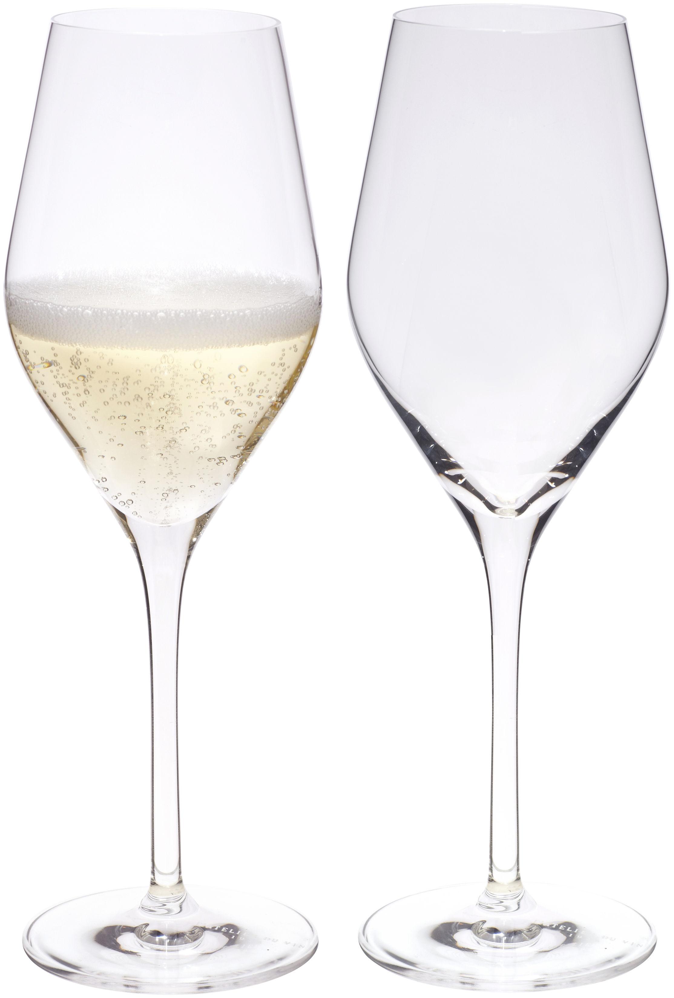Arts de la table - Verres  - Flûte à champagne Good Size / Set de 2 - L'Atelier du Vin - Transparent -  Nesium®, Verre cristallin soufflé