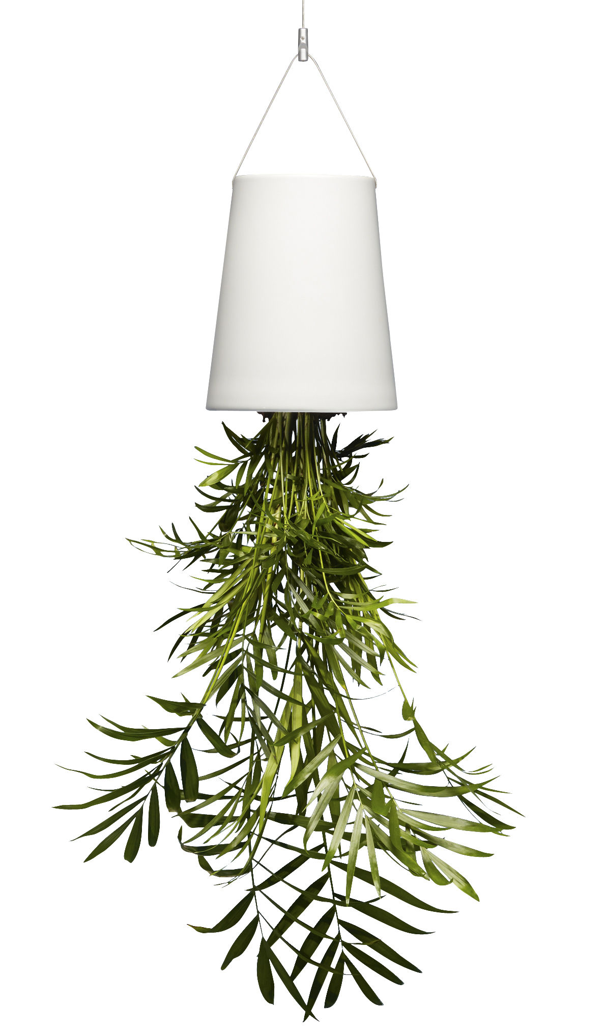 Decoration - Flower Pots & House Plants - Sky Large Hanging flowerpot - Ceramic / H 22 cm by Boskke - H 22 cm / White - Ceramic