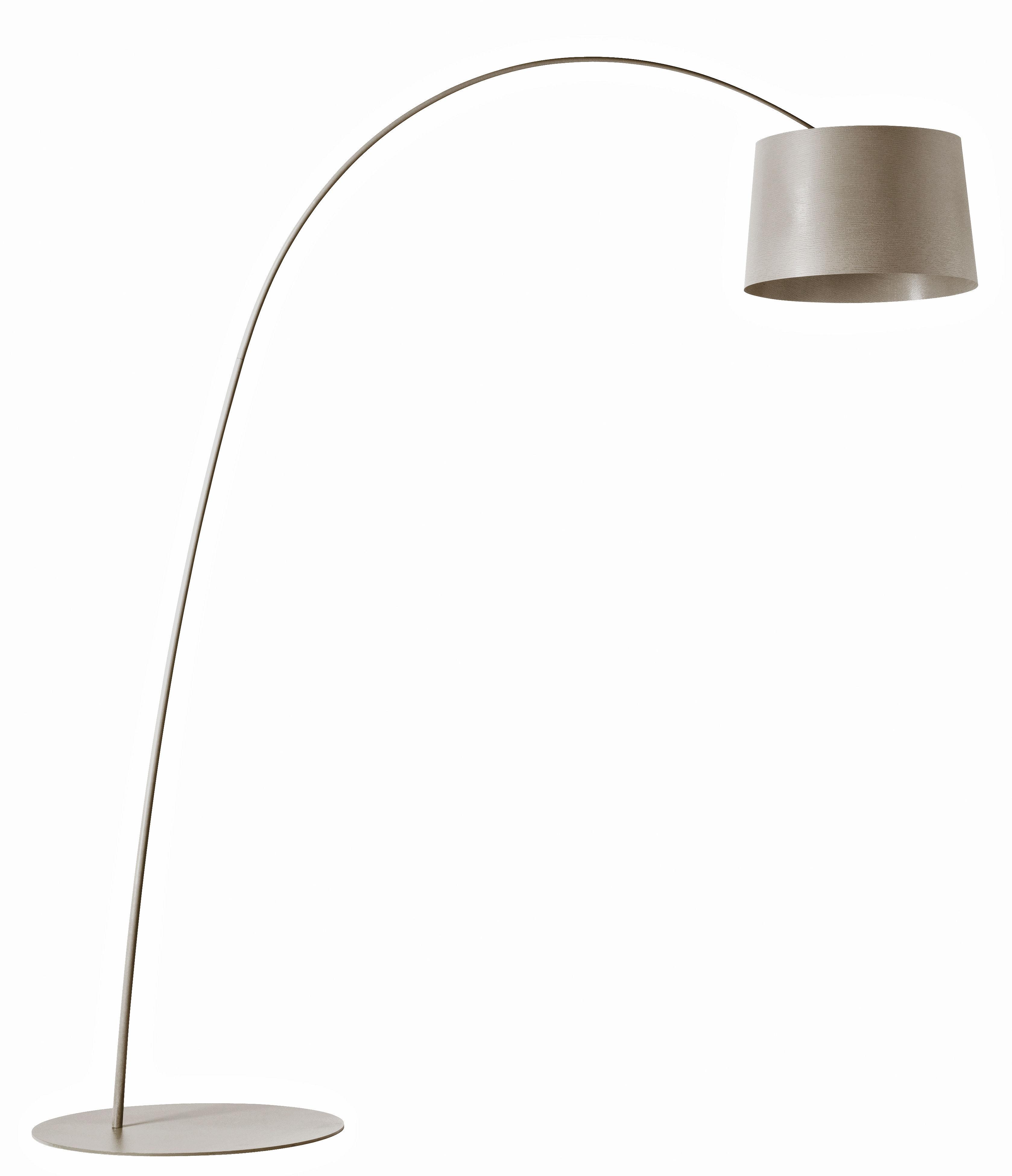 Illuminazione - Lampade da terra - Lampada Twiggy LED - Foscarini - Greige - Fibra di vetro, Materiale composito, metallo verniciato