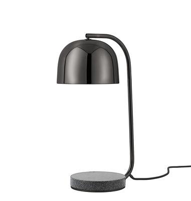 Lampe de table Grant / Métal & Base granite - Normann Copenhagen noir,gris tonnerre en métal