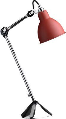Lampe de table N°205 / Lampe Gras - DCW éditions chromé,rouge mat en métal