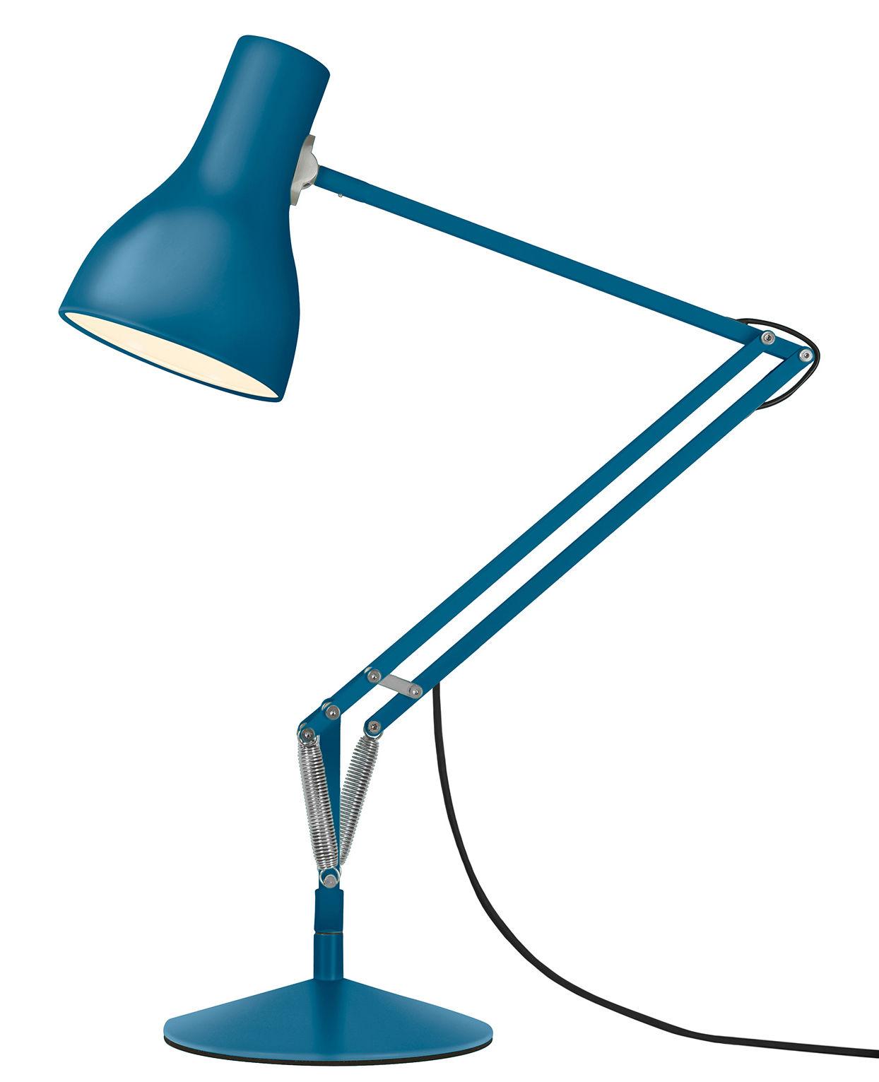 Luminaire - Lampes de table - Lampe de table Type 75 / By Margaret Howell - Edition limitée - Anglepoise - Bleu Saxon - Acier, Aluminium, Fonte
