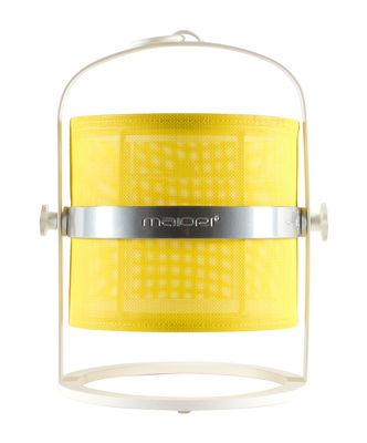 Lampe solaire La Lampe Petite LED / Hybride & connectée - Structure blanche - Maiori blanc,citron en métal