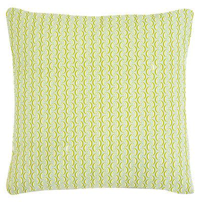 Decoration - Cushions & Poufs - Envie d'ailleurs - Bananes Outdoor cushion - / 70 x 70 cm by Fermob - Sky blue & green - Foam, Water repellant cotton