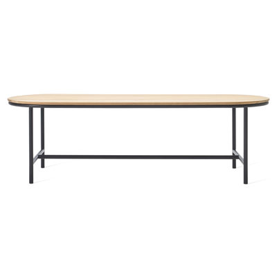 Outdoor - Garden Tables - Wicked Oval table - / 250 x 90 cm - Teak by Vincent Sheppard - L 250 cm / Teak & black - Solid teak, Thermolacquered aluminium