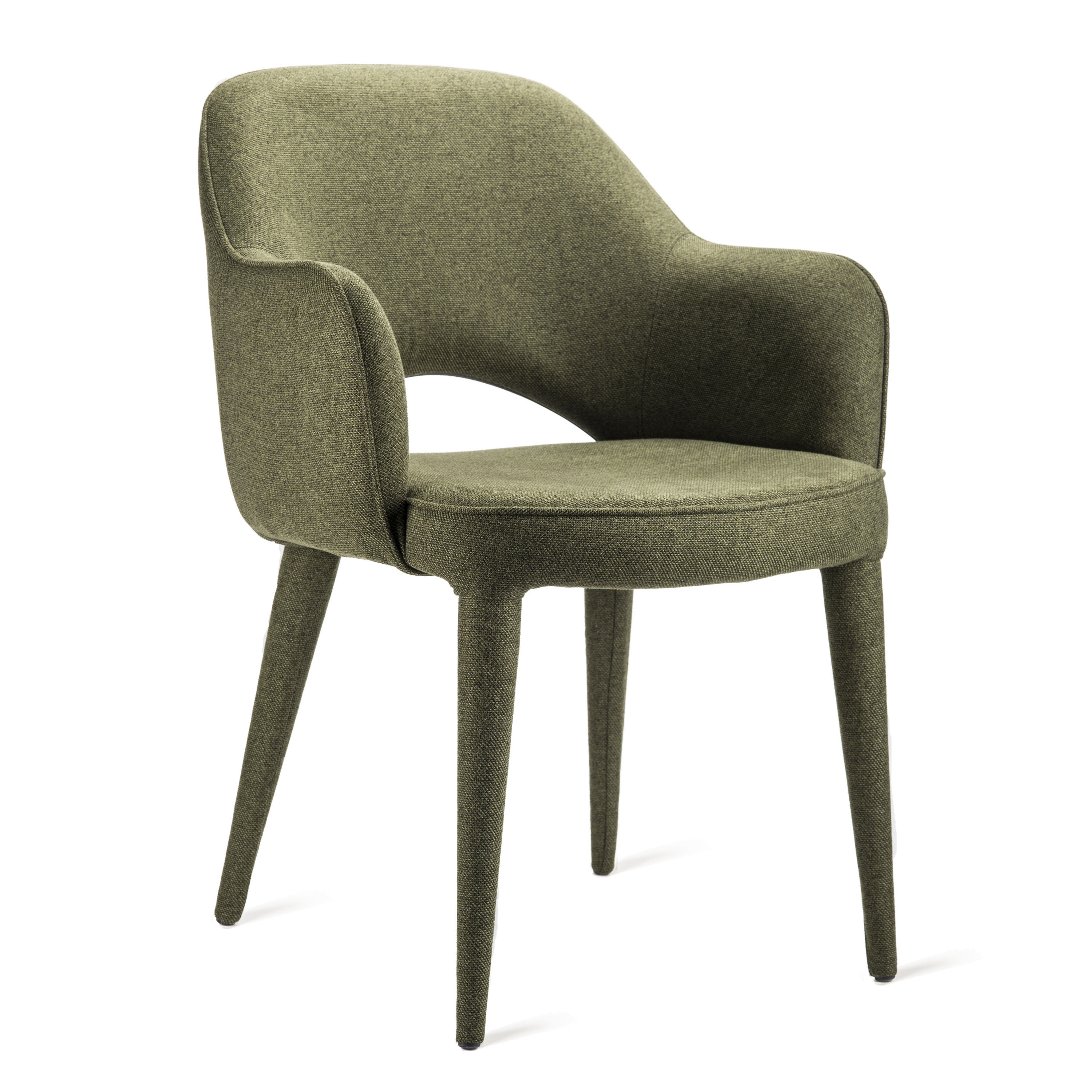 Furniture - Chairs - Cosy Padded armchair - / Fabric by Pols Potten - Forest green - Foam, Metal, Polyester fabric