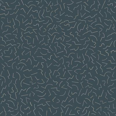 Déco - Stickers, papiers peints & posters - Papier peint Constellation 1 / 1 rouleau - larg 70 cm - Petite Friture - Noir - Papier intissé