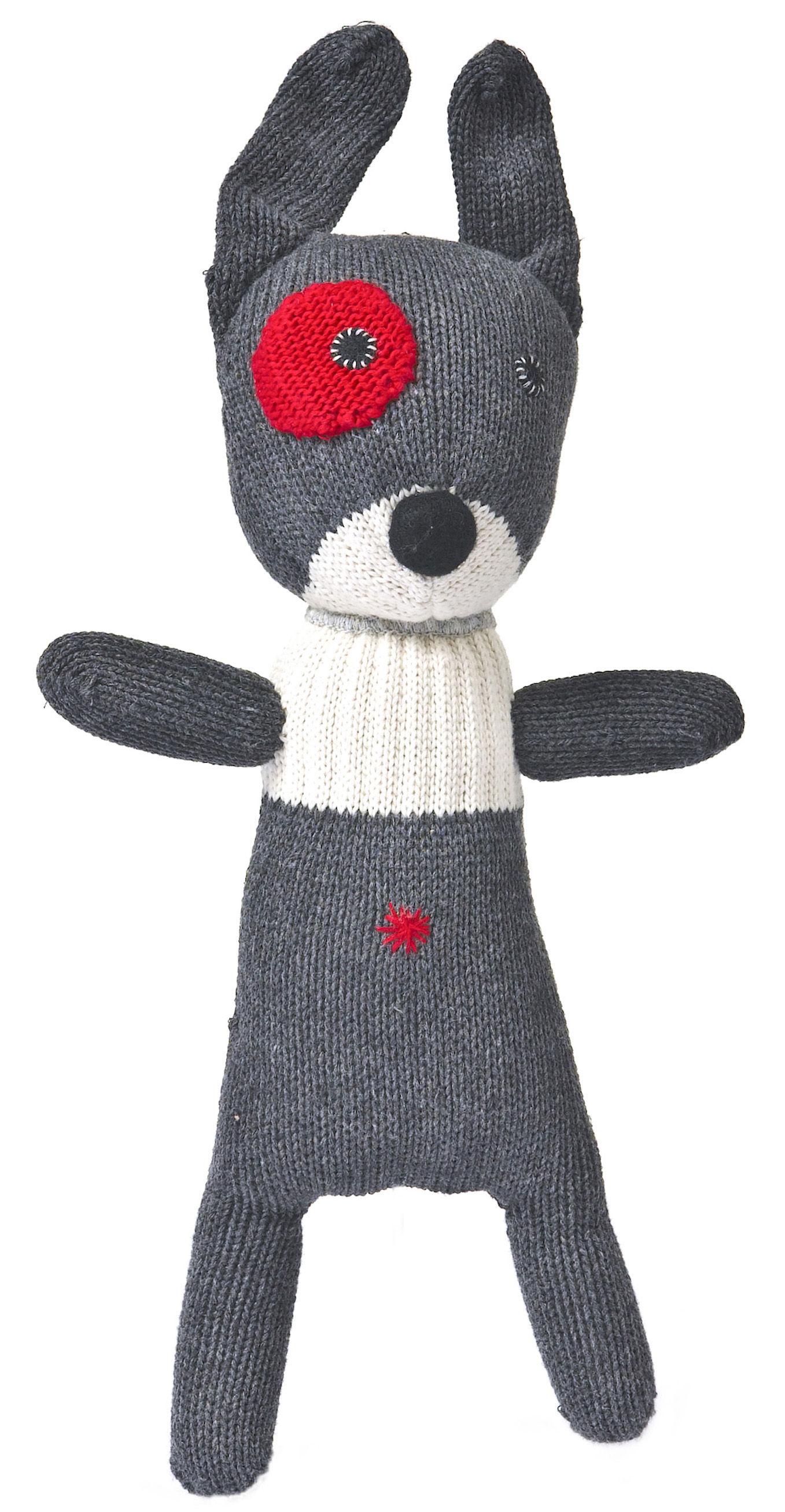 Déco - Pour les enfants - Peluche New small dog en crochet - Anne-Claire Petit - Gris - Coton