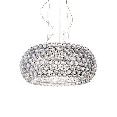 Lighting - Pendant Lighting - Caboche Plus Pendant - Large / LED  - My Light Tunable (Bluetooth) / Ø 70 cm by Foscarini - Transparent - PMMA