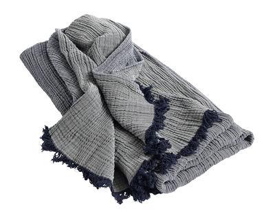 Plaid Crinkle / Coton - 210 x 150 cm - Hay bleu marine en tissu