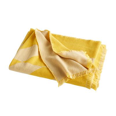 Plaid Star / 180 x 130 cm - Laine - Hay jaune en tissu