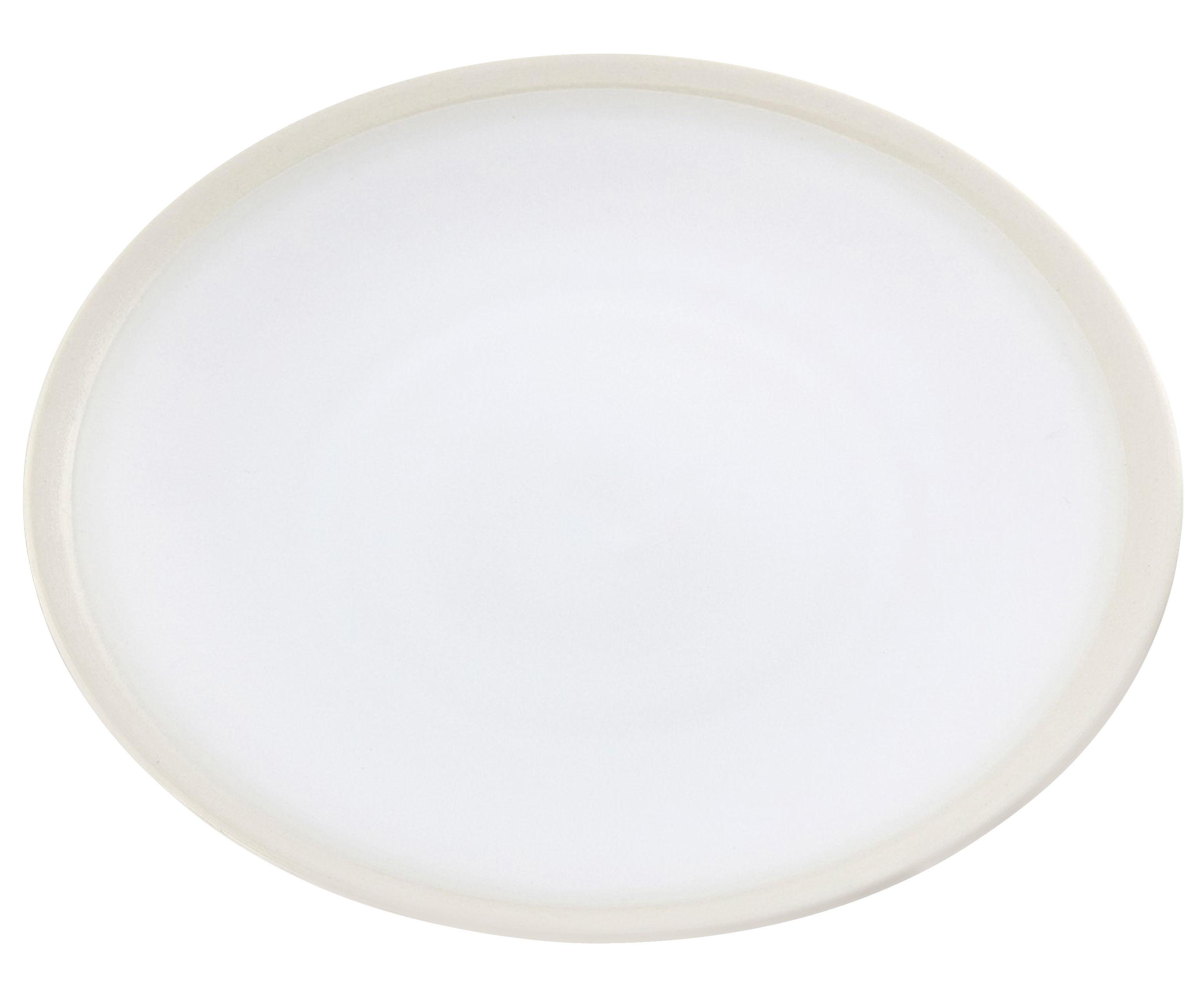 Tableware - Plates - Sicilia Plate - Ø 26 cm by Maison Sarah Lavoine - Jasmin / Beige - Painted enameled stoneware