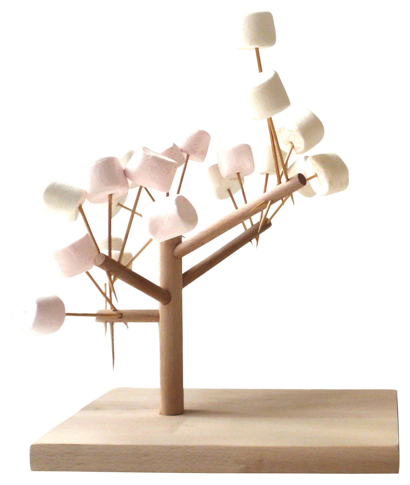 Déco - Tendance humour & décalage - Présentoir à nourriture Mangier - Arbre à manger arbre à manger - H 20 cm - Smarin - Hêtre - H 20 cm - Hêtre