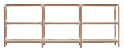 Furniture - Bookcases & Bookshelves - Steelwood Shelf - H 93 cm by Magis - White / beech - L 181 cm - Beechwood, Varnished MDF, Varnished steel