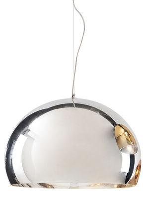 Illuminazione - Lampadari - Sospensione FL/Y - Metallizzata di Kartell - Cromato - PMMA metallizzato