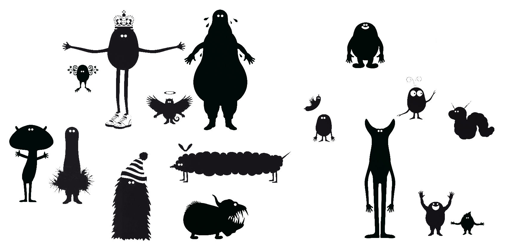 Decoration - Wallpaper & Wall Stickers - Potato Queen 2 Sticker by Domestic - Black - Vinal