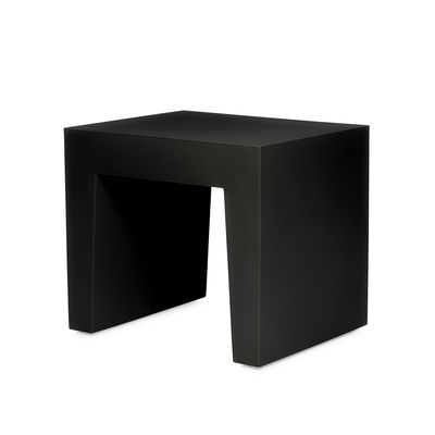 Furniture - Coffee Tables - Concrete Seat Stool - / Side table - Polyethylene by Fatboy - Black - Recycle polyethylene