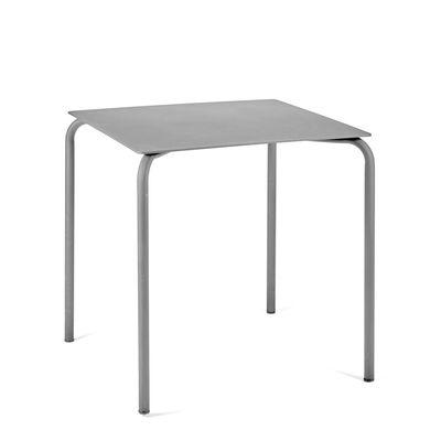 Table August / Aluminium - 70 x 70 cm - Serax gris en métal