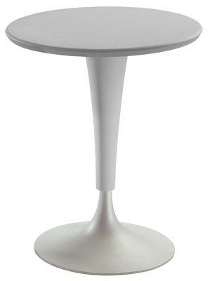 Table de jardin Dr. Na / Ø 60 cm - Kartell gris en matière plastique
