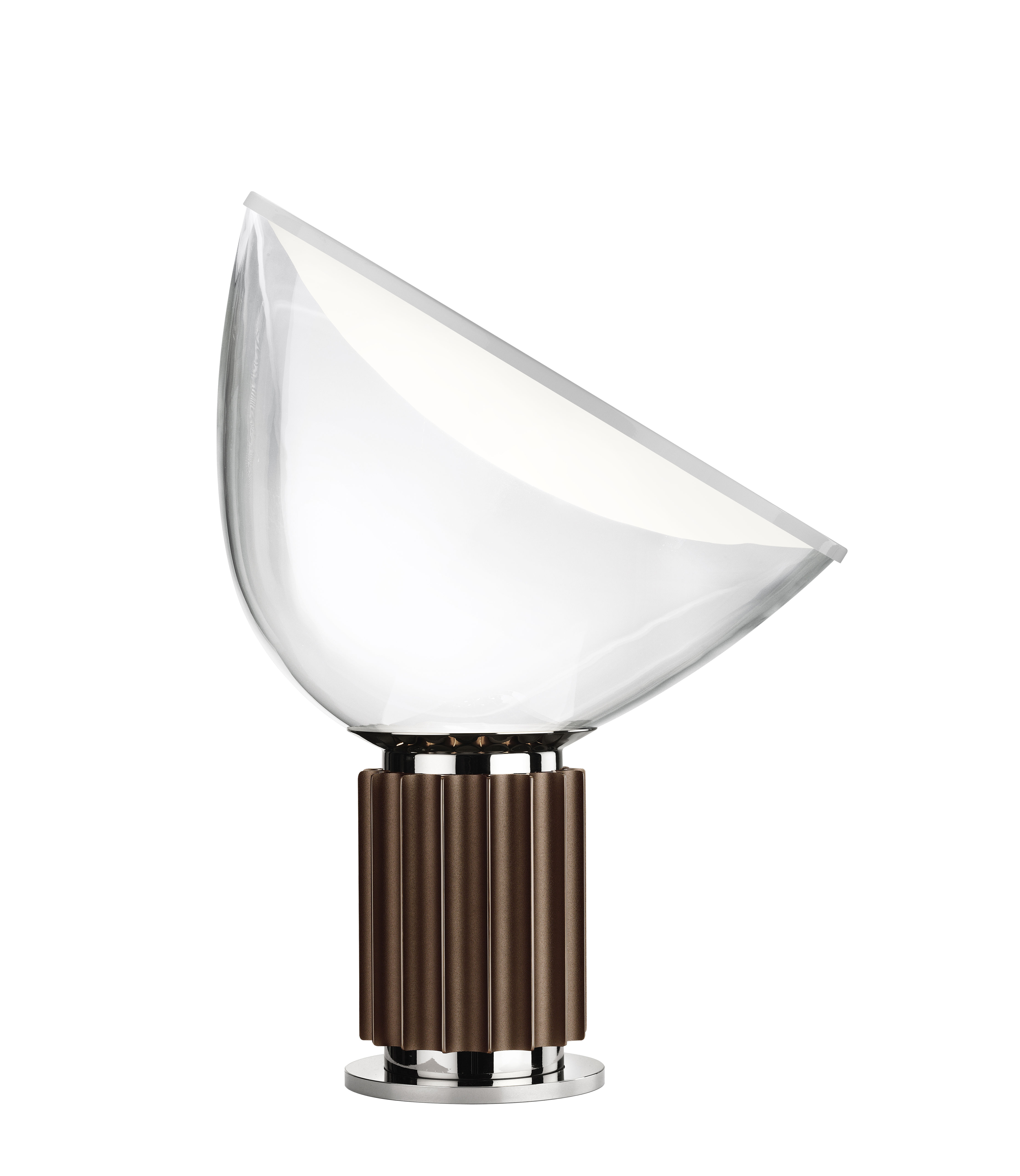 Lighting - Table Lamps - Taccia LED Small Table lamp - Glass diffusor - H 48 cm by Flos - Bronze - Aluminium, Blown glass