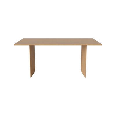 Table rectangulaire Alp / 200 x 91 cm - Chêne massif - Bolia bois naturel en bois