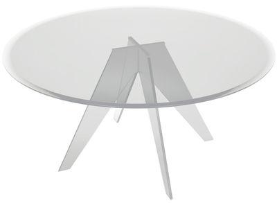 Table ronde Alister / Ø 155 cm - Glas Italia transparent en verre
