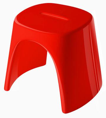 Tabouret empilable Amélie / Laqué - Plastique - Slide laqué rouge en matière plastique