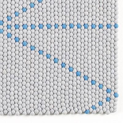 Tapis S B Dot Hay Bleu Gris Made In Design