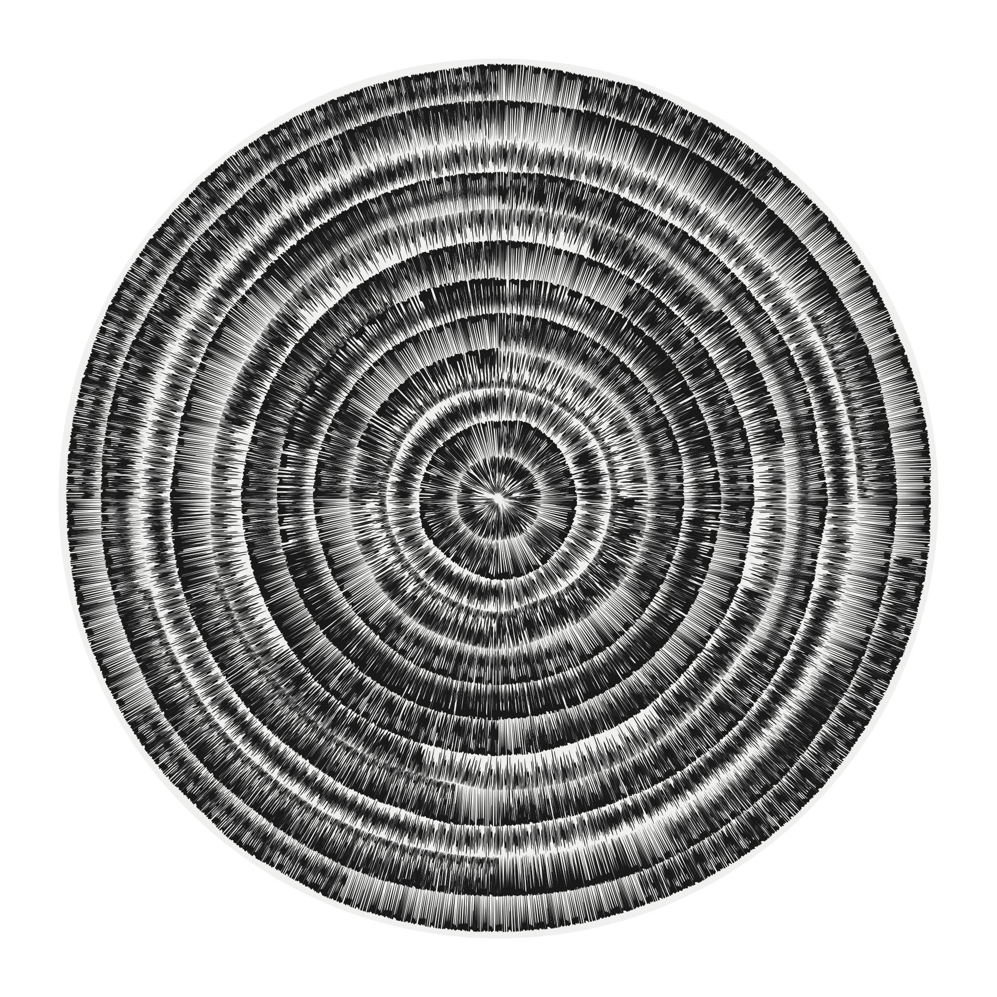 Déco - Tapis - Tapis Spirale / Ø 145 cm - Vinyle - PÔDEVACHE - Noir & gris - Vinyle