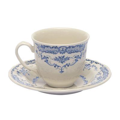 Tasse à thé Rose / Avec soucoupe - Bitossi Home blanc/bleu en céramique