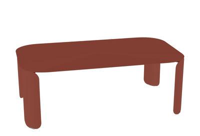 Arredamento - Tavolini  - Tavolino Bebop - / 120 x 70 x H 42 cm di Fermob - Ocra rossa - Acciaio, Alluminio