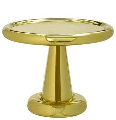 Arredamento - Tavolini  - Tavolino Spun - / H 45 x Ø 54 cm di Tom Dixon - Ottone - Ottone lucido