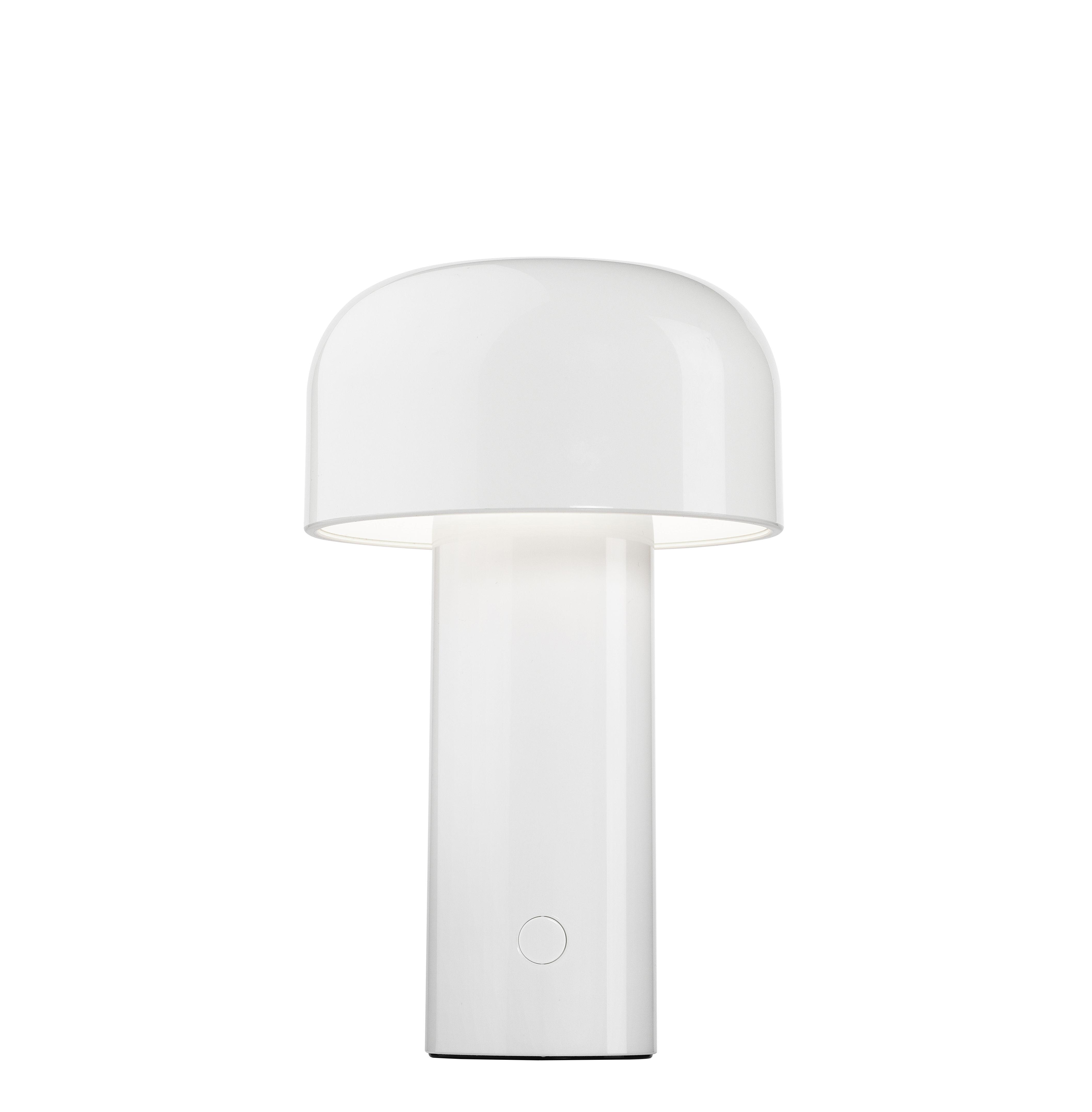 Leuchten - Tischleuchten - Bellhop Tischleuchte / kabellos - mit USB-Ladeoption - Flos - Weiß - Polykarbonat