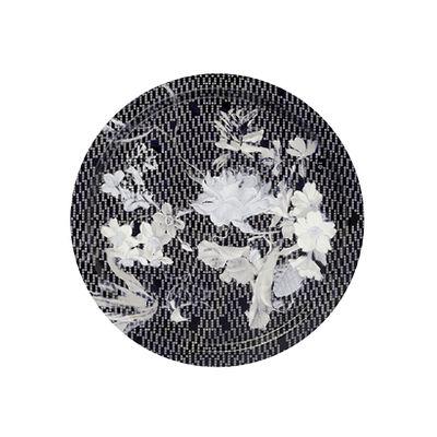 Tableware - Trays - Vibration Saphir Tray - / Ø 46 cm by Ibride - Sapphire - HPL laminate