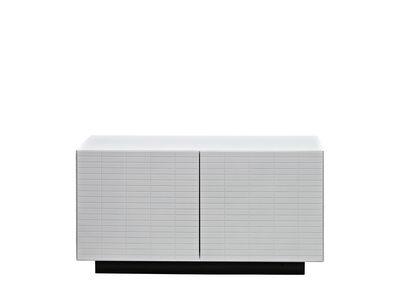 Möbel - Aufbewahrungsmöbel - Toshi Unterschrank / Modell N° 2 - L 91 cm x H 47,5 cm - Casamania - Weiß / Sockel anthrazit - lackierte Holzfaserplatte, Metall