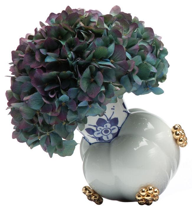 Dekoration - Vasen - Delft Blue 10-2 Vase - Moooi - Weiß, blau & golden - Porzellan