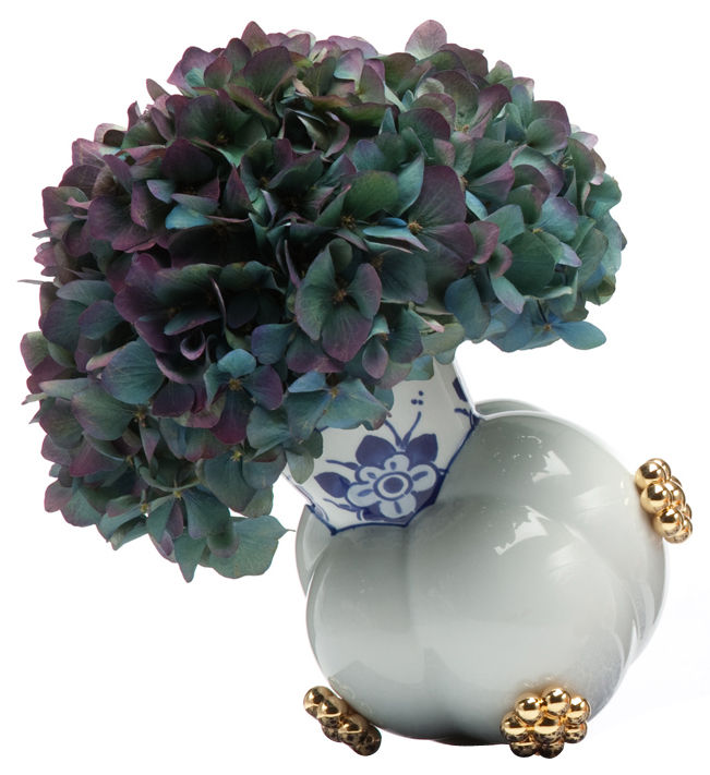Decoration - Vases - Delft Blue 10-2 Vase by Moooi - White, blue & gold - China