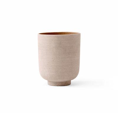 Image of Vaso per fiori Collect SC70 - / Ø 15 x H 18 cm - Polystone di &tradition - Giallo - Materiale plastico/Pietra
