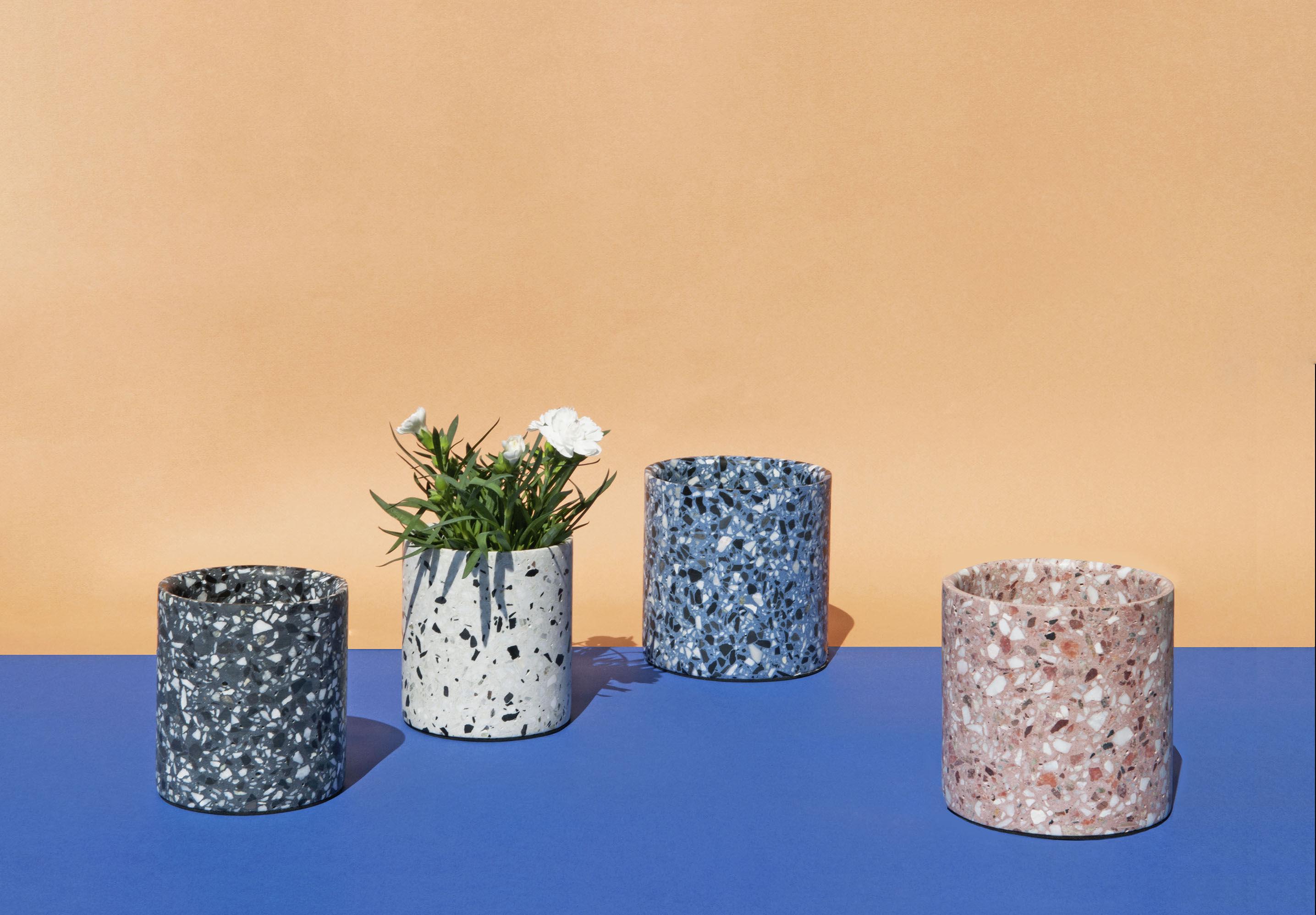 Vaso Terrazzo Di Xl Boom Bianco Made In Design